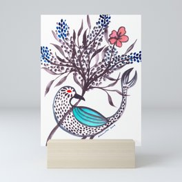 Blue-Winged Mini Art Print