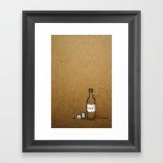 Booze Framed Art Print
