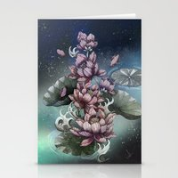 lotus Stationery Cards featuring Lotus by Marine Loup