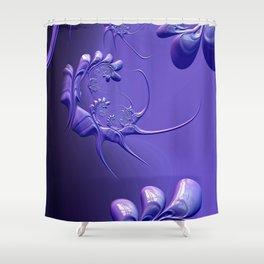 The Scorpion Blue Shower Curtain