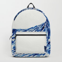 Boots in Blue Backpack