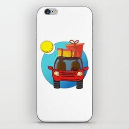 Travel car cartoon design iPhone Skin