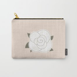 White vintage rose. Vector Illustration Carry-All Pouch