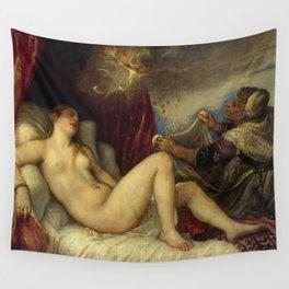 "Titian (Tiziano Vecelli) ""Danae receiving the Golden Rain"", 1553-1554 Wall Tapestry"