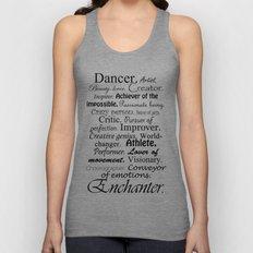 Dancer Description Unisex Tank Top