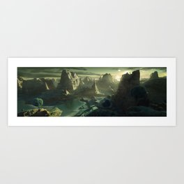 DragonBall Photoreal Series: Namek Art Print