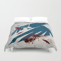 infamous Duvet Covers featuring inFamous Second Son Good Karma by Kyrsten Carlson
