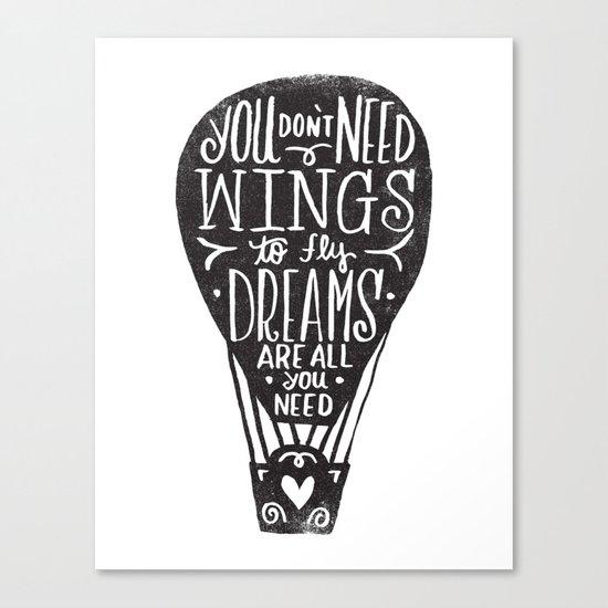 wings & dreams Canvas Print