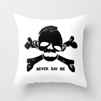 goonies Throw Pillows featuring Goonies Never say die by Komrod