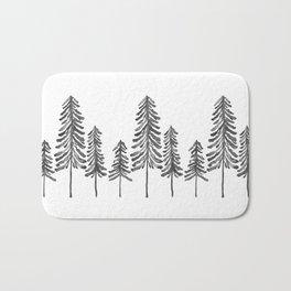 Pine Trees – Black Ink Bath Mat