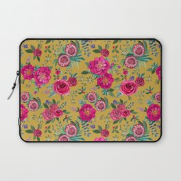Mustard yellow floral autumn / fall flowers and berries Laptop Sleeve