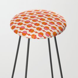 Mid Century Retro Dots Counter Stool
