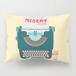 Misery, Horror, Movie Illustration, Stephen King, Kathy Bates, Rob Reiner, Classic book, cover Pillow Sham