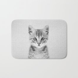 Kitten - Black & White Bath Mat