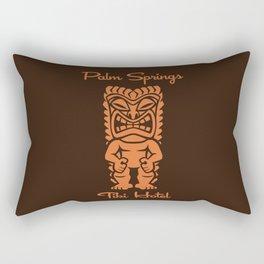 Tiki Hotel Logo Rectangular Pillow