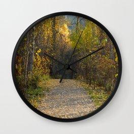 Leaf of the Fall Wall Clock