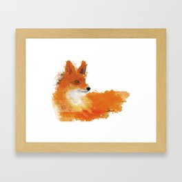 Fox in a watercolour style illustration Framed Art Print
