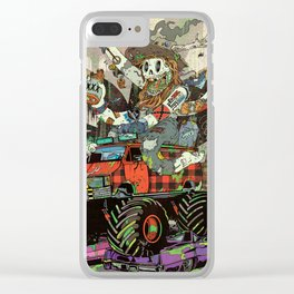 Battlescar Biggles Clear iPhone Case