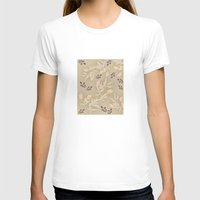 vintage flowers T-shirts featuring vintage flowers by Julia Tomova