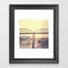 Chattanooga Bridge Polaroid Framed Art Print