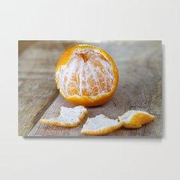 one mandarin Metal Print