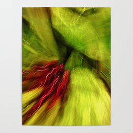 Abstract Red & Green Poster