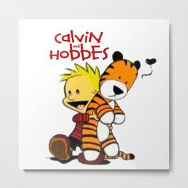 Calvin And doll hobbes Metal Print