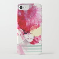 ink iPhone & iPod Cases featuring Bright Pink - Part 2  by Jenny Liz Rome