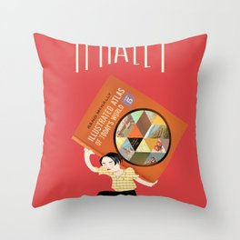 Ayn Rand McNally Throw Pillow