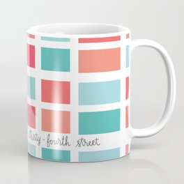 New York City Minimal Map Coffee Mug