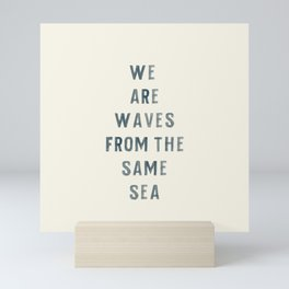 Waves From The Same Sea Mini Art Print