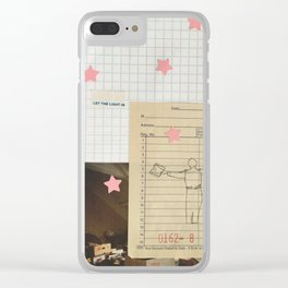 let the light in Clear iPhone Case