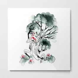 Not-So-Happy tree Metal Print