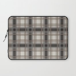 Brown Plaid with tan, cream and gray Laptop Sleeve