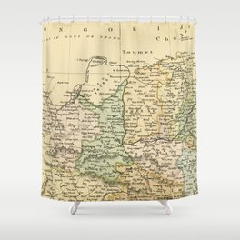 Vintage Map of The North Of China Shower Curtain