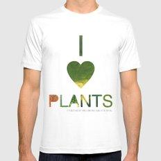 I LOVE PLANTS. White MEDIUM Mens Fitted Tee