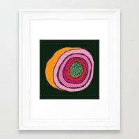 geode Framed Art Prints featuring Geode  by Steph Walker