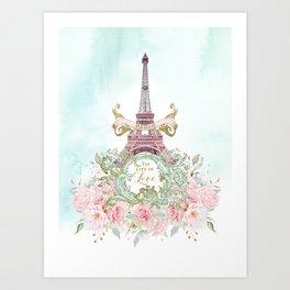 Paris, The City of Love Art Print