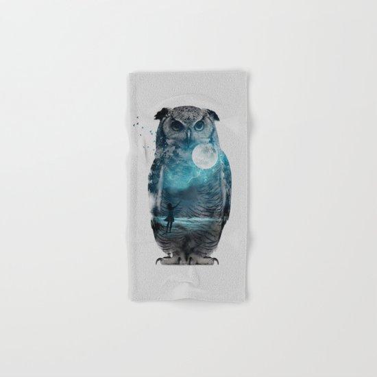 OWL / MOON BALLOON Hand & Bath Towel