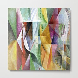 Robert Delaunay Three Windows Metal Print