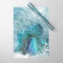 Blue Aqua Agate Wrapping Paper
