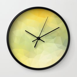 """""""Sunray in the water"""" triangles design Wall Clock"""