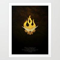 gurren lagann Art Prints featuring Gurren Lagann Movie Poster by 5eth