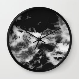 Waves of Marble Wall Clock