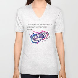 The secret fantasy of the bacteria Unisex V-Neck