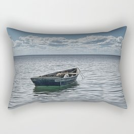 Maine Boat looking out to Sea Rectangular Pillow