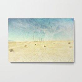 Lost In The Desert Metal Print