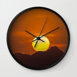 """""""Desert Sunset 1"""" by Murray Bolesta Wall Clock"""