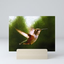 Moonlit Iridescence Hummingbird Mini Art Print