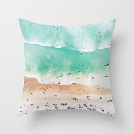 Beach Mood Throw Pillow